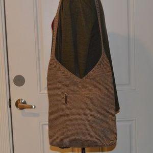 The Sak Tan Crocheted Crossbody/Shoulderbag